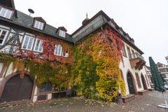 Straßenansicht einer mittelalterlichen Stadt Gelnhausen Stockfotografie