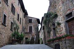 Straßenansicht gemacht auf einem Feiertag in Italien Stockfotografie