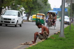 Straßenansicht in Indien Stockbild