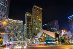 Straßenansicht in Las Vegas, Nanovolt stockfotos