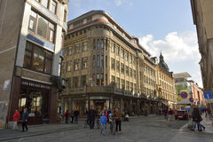 Straßenansicht in Leipzig lizenzfreies stockfoto