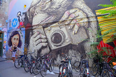 Straßenansicht in Mitte-Bezirk Lizenzfreie Stockfotos