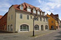 Straßenansicht in Naumburg stockbilder