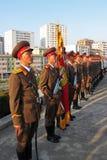 Straßenansicht in Nordkorea Stockbilder