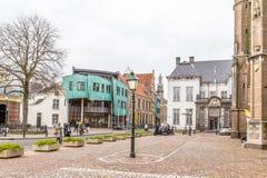 Straßenansicht-Stadtzentrum Zutphen in den Niederlanden lizenzfreies stockfoto