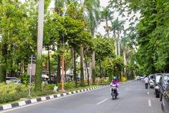 Straßenansicht Surabya Indoensia lizenzfreie stockfotos