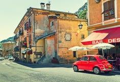 Straßenansicht in Tende, Frankreich Stockbilder
