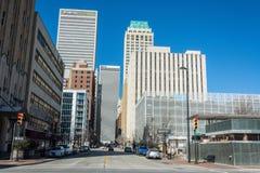 Straßenansicht in Tulsa, OKAY lizenzfreies stockbild