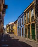Straßenansicht vom alten Stadtzentrum, San Cristobal de La Laguna, Teneriffa, Kanarische Inseln, Spanien - 13 05 2018 stockfotos