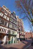 Straßenansicht von Amsterdam Stockfoto