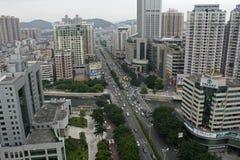 Straßenansicht von Humen-Allee Stockbild