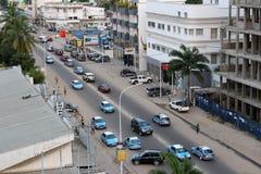 Straßenansicht von Pointe-Noire lizenzfreie stockbilder