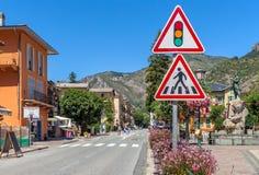 Straßenansicht von Tende, Frankreich Lizenzfreies Stockfoto