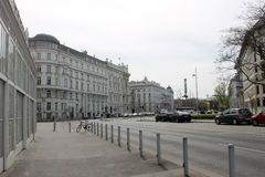 Straßenansicht in Wien lizenzfreies stockfoto