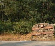Straßenanweisungen Gerês Portugal Lizenzfreies Stockbild