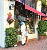 Straßenanziehungskraft Santa Barbara Kalifornien USA lizenzfreies stockbild