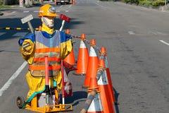 Straßenarbeiten lizenzfreies stockfoto