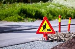 Straßenarbeiten Stockfoto