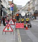 Straßenarbeiten Stockbild