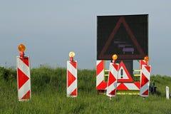 Straßenarbeiten - 1 Lizenzfreies Stockfoto