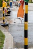 Straßenarbeiten für Wartung Lizenzfreie Stockbilder