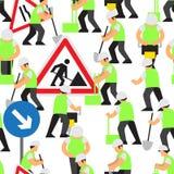 Straßenarbeitenvektormuster Lizenzfreies Stockfoto