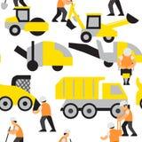 Straßenarbeitenvektormuster Stockfoto