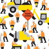 Straßenarbeitenvektormuster Stockbilder