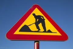 Straßenarbeitenzeichen Lizenzfreies Stockfoto