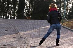 Straßenart und weise für Damen Stockfotografie