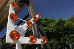 Straßenaufbauzeichen Lizenzfreies Stockfoto