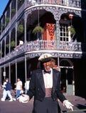 Straßenausführender, New Orleans. Stockfotos