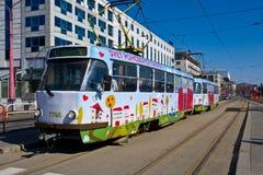 Straßenbahn in Bratislava Lizenzfreie Stockfotos