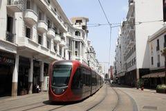 Straßenbahn in Casablanca, Marokko lizenzfreies stockfoto