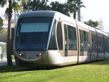 Straßenbahn in der Stadt von Nizza Stockbild