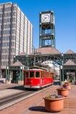 Straßenbahn in im Stadtzentrum gelegenem Memphis, Tennessee lizenzfreies stockbild