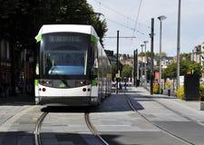 Straßenbahn in Nantes stockfotografie