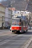 Straßenbahn in Prag Lizenzfreie Stockbilder