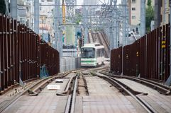 Straßenbahn Toden Arakawa Stockfotos