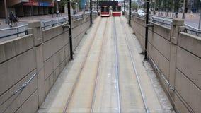 Straßenbahnen in Toronto stock footage