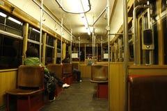 Straßenbahnpassagier Stockfotos
