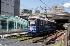 Straßenbahnschiene Toden Arakawa Lizenzfreie Stockfotos
