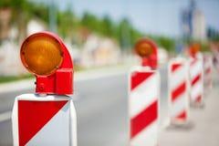 Straßenbau-Reihe Lizenzfreie Stockfotos