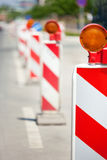 Straßenbau-Reihe Stockbild