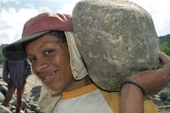 Straßenbau und Straßenbauer in Nicaragua Lizenzfreie Stockbilder