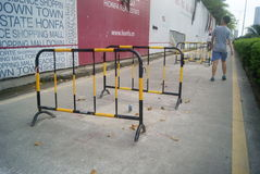Straßenbauzaun Stockfoto