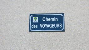 Straßenbeschreibung, Dorf Vers, Frankreich Lizenzfreies Stockfoto