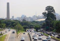 Straßenbewegung im Sao Paolo, Brasilien Lizenzfreies Stockfoto