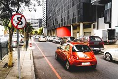 Straßenbild in Cape Town stockbild