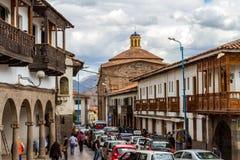 Straßenbild in Cusco Lizenzfreie Stockfotografie